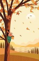 érables en automne vecteur