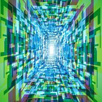 Fond de tunnel de vecteur coloré