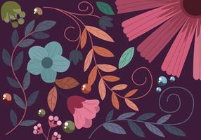 Fond de fleurs décoratives vecteur