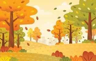 tomber en automne vecteur