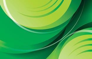 dégradé de vert frais et dynamique vecteur