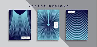 Dessins de couverture minimale de vecteur. Modèle de future affiche vecteur