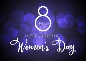 Contexte de la journée internationale de la femme vecteur
