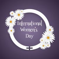 Fond floral de la journée internationale de la femme vecteur
