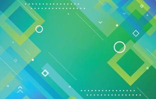 fond géométrique abstrait dégradé vert et bleu vecteur