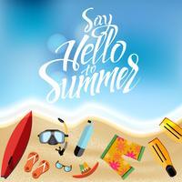 Ensemble d'objets pour les vacances d'été