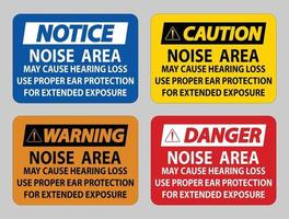la zone de bruit peut entraîner une perte auditive, utilisez une protection auditive appropriée pour une exposition prolongée vecteur