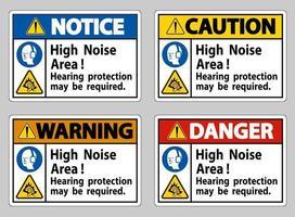 une protection auditive pour zone de bruit élevé peut être nécessaire vecteur