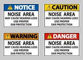 la zone de bruit peut entraîner une perte auditive utiliser une protection auditive appropriée vecteur