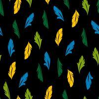 Modèle sans couture de vecteur avec des plumes abstraites.