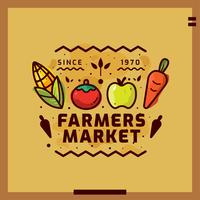 Illustration vectorielle de marché de producteurs