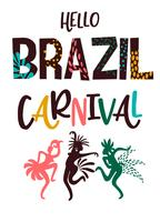 Carnaval du Brésil. Illustration vectorielle avec des éléments abstraits branchés. vecteur
