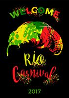 Carnaval de Rio. lettrage avec plume