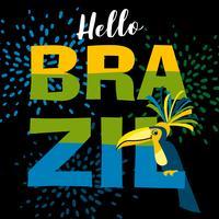 Carnaval du Brésil. Modèle de vecteur pour le concept de carnaval