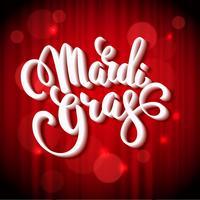 Mardi Gras. Conception de lettrage pour bannières, prospectus, affiches, poteaux