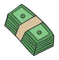 illustration de vecteur de dessin animé de billets de banque