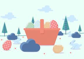 Illustration vectorielle de Pâques papier peint vecteur
