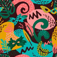 Carnaval du Brésil. Modèle sans couture de vecteur avec des éléments abstraits branchés
