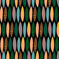 Modèle sans couture tribal avec des feuilles abstraites. Main dessiner la texture.