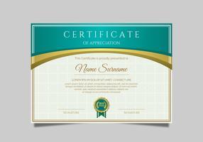 Modèle de certificat vecteur