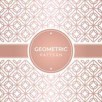 Motif géométrique en or rose sans soudure vecteur