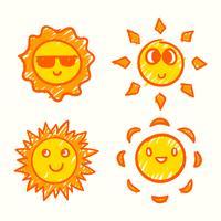 soleil clipart ensemble