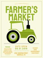Flyer Design Farmers Market Vector