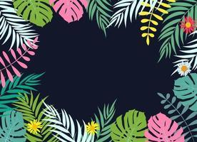 Belle feuille de palmier silhouette fond illustration vectorielle vecteur