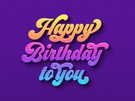 Joyeux anniversaire à toi la typographie
