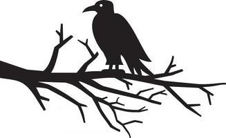 plat de corbeau noir vecteur
