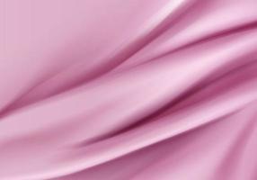 fond de vecteur abstrait matériau de velours de texture rose soie de luxe avec vecteur de rendu 3d, illustration 3d maquette formes de forme d'onde de satin pour l'affichage du produit. arrière-plan pour l'objet dans le moderne.