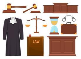 Illustration de conception de vecteur de collection de juge isolé sur fond blanc