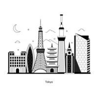 tokyo capitale du japon vecteur