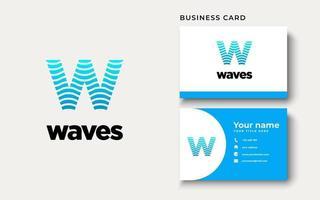 inspiration initiale de conception de logo w wave vecteur