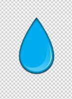 Éclaboussures de peinture bleue avec fond de transparence. Illustration vectorielle vecteur