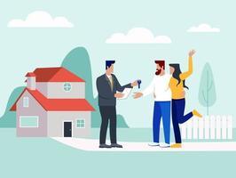 concept d'illustration d'entreprise immobilière vecteur