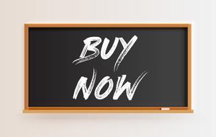 Tableau détaillé haute avec titre «acheter maintenant», illustration vectorielle