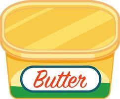 paquet de beurre en style cartoon isolé vecteur