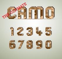 Caractère de camouflage, polices vectorielles détaillées vecteur