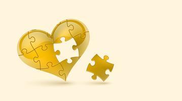 Coeur de puzzle. Illustration vectorielle