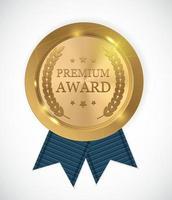 médaille d'or prime. illustration vectorielle vecteur