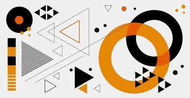 abstrait géométrique. bauhaus, memphis affiche rétro minimaliste illustration vectorielle graphique. motif abstrait tendance de formes carrées et rondes. vecteur