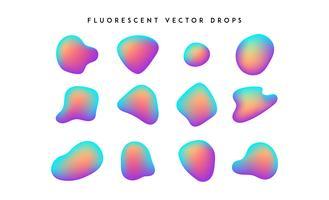 Dégradé de formes vives. Collection de fluide vecteur coloré abstrait moderne.