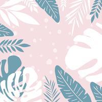 Fond de feuilles de jungle tropicale vecteur