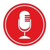 icône de microphone design plat illustration vectorielle vecteur