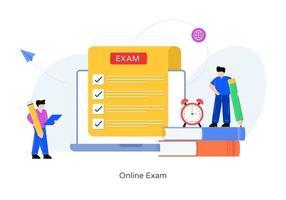 examen et quiz en ligne vecteur