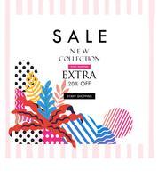 Affiche de vente pour faire du shopping, discount, vente au détail, illustration vectorielle de produit promotion vecteur