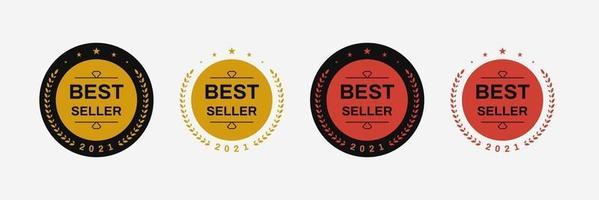 création de logo d'insigne de meilleur vendeur. modèle d'emblème d'icône isolée de vecteur de best-seller