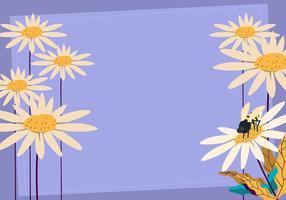 Fond de fleur vecteur