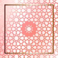 Modèle de conception géométrique moderne en or rose